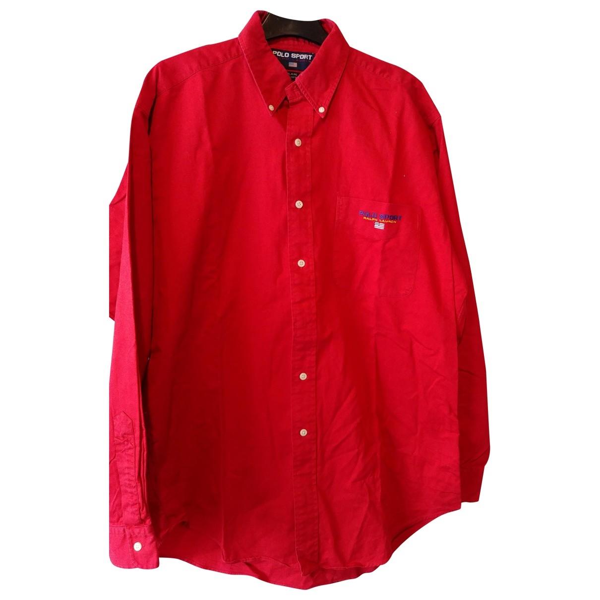 Polo Ralph Lauren \N Red Cotton Shirts for Men M International