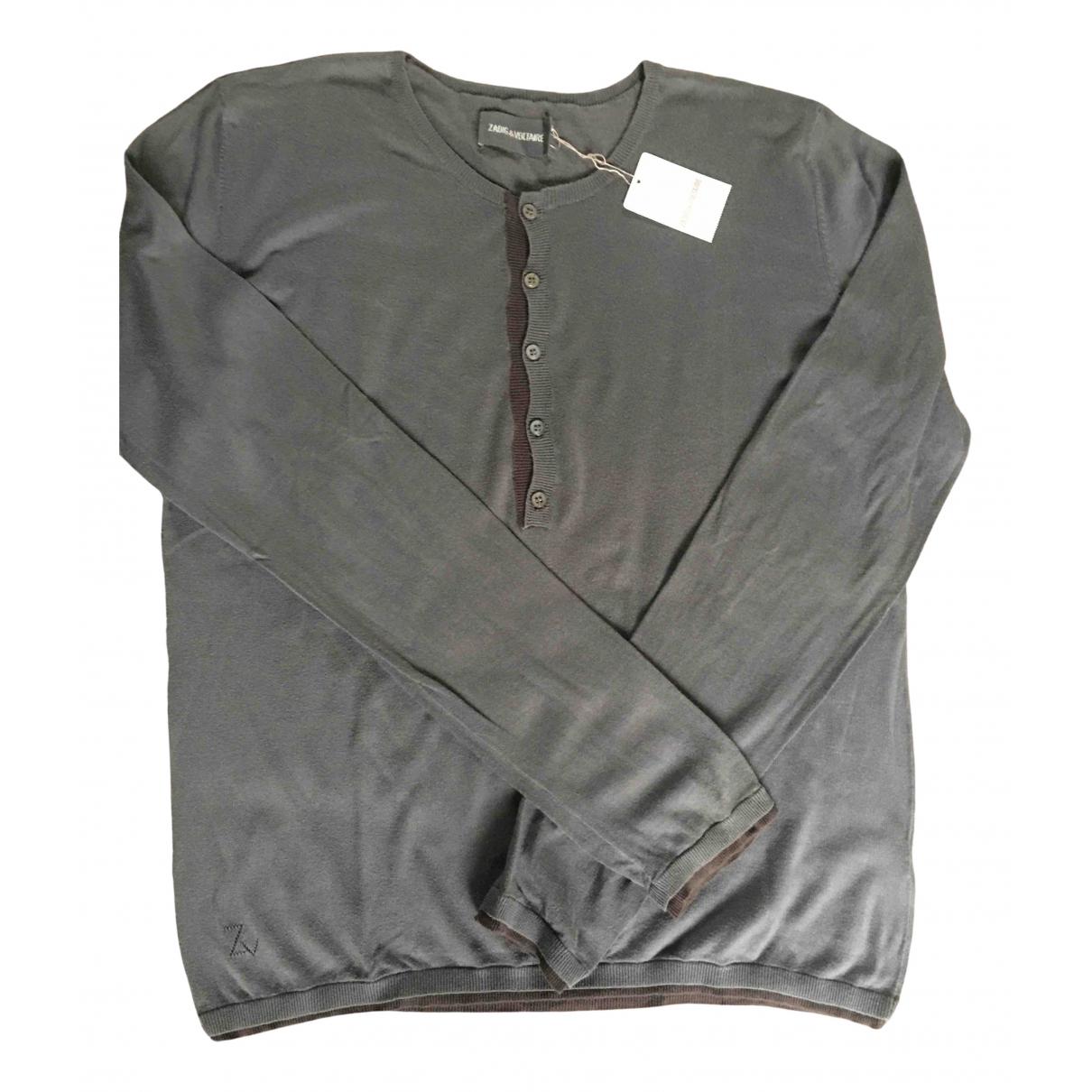 Zadig & Voltaire \N Pullover.Westen.Sweatshirts  in  Grau Baumwolle