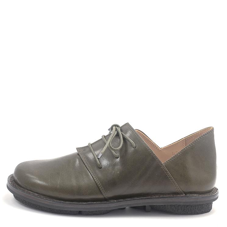 Trippen, Haferl m Closed Men's Lace-up Shoes, dark green Größe 43