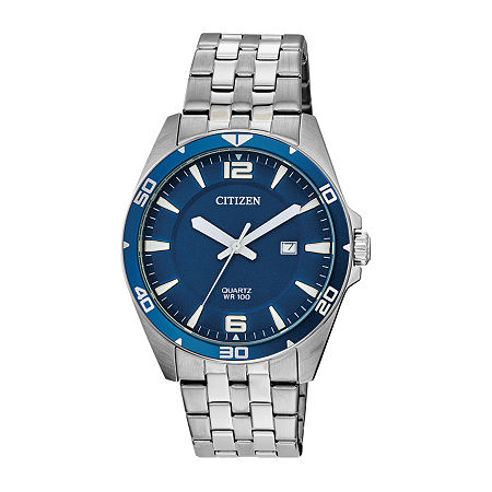 Citizen Mens Silver Tone Stainless Steel Bracelet Watch-Bi5058-52l, One Size , No Color Family