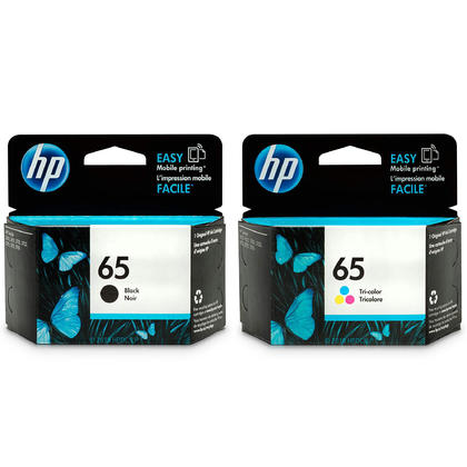HP 65 T0A36AN Original Black and Tri-color Ink Cartridge Combo