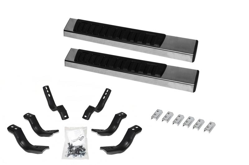 Go Rhino 6862412652PS 6 OE Xtreme II Stainless SideSteps Kit - 52 Long + Brackets Ford F-150 2004-2009