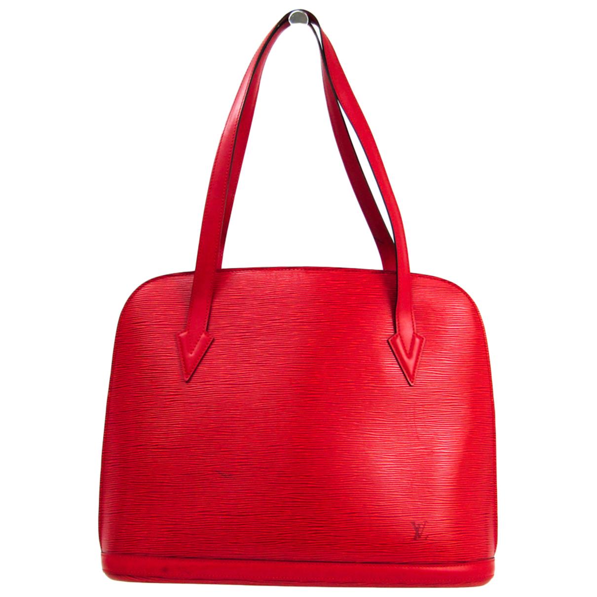 Louis Vuitton Lussac Red Leather handbag for Women N