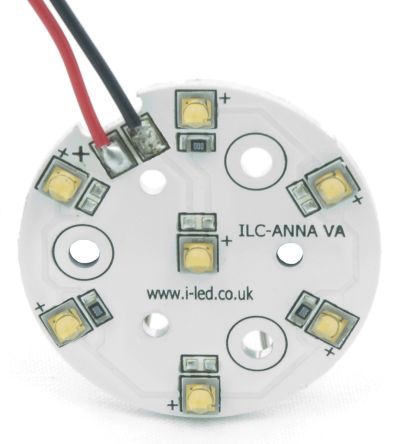 Intelligent LED Solutions ILS ILC-ONA7-WMWH-SC211-WIR200., OSLON 80 PowerAnna Coin Circular LED Array, 7 White LED (3000K)