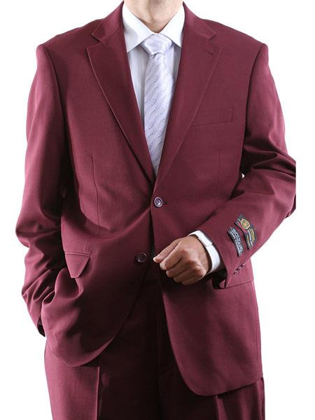 Men's 100% Polyester 2 Button Fully Lined Dress Suit