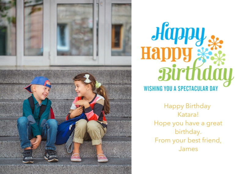 Birthday Greeting Cards 5x7 Cards, Premium Cardstock 120lb, Card & Stationery -Spectacular Starbursts