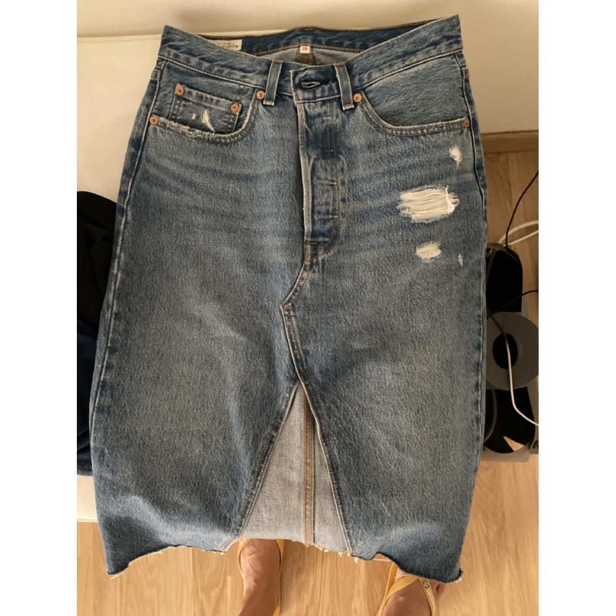 Levi's \N Blue Denim - Jeans skirt for Women 38 FR