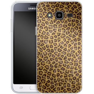 Samsung Galaxy J3 (2016) Silikon Handyhuelle - Leopard Skin von caseable Designs