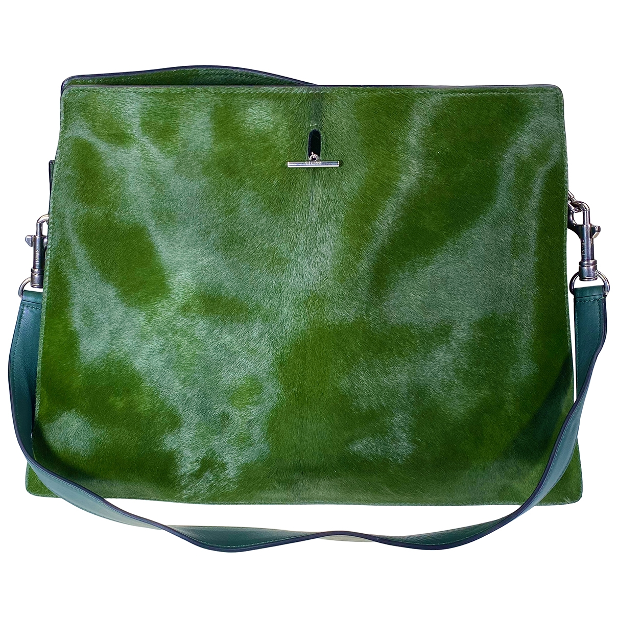 Celine \N Green Pony-style calfskin handbag for Women \N