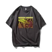Camiseta amplia de hombres con estampado de letra