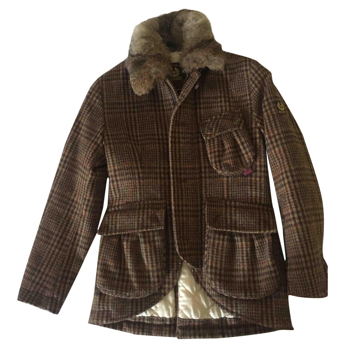 Belstaff - Blousons.Manteaux   pour enfant en laine - marron