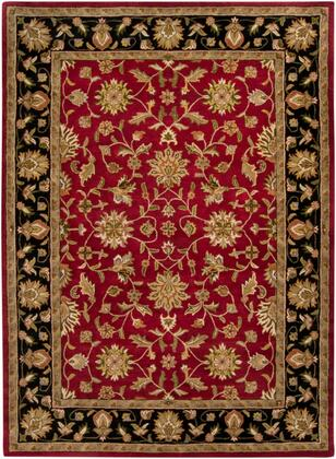 Crowne CRN-6013 10' x 14' Rectangle Traditional Rugs in Garnet  Black  Camel  Khaki  Clay  Charcoal  Dark Brown  Tan  Moss
