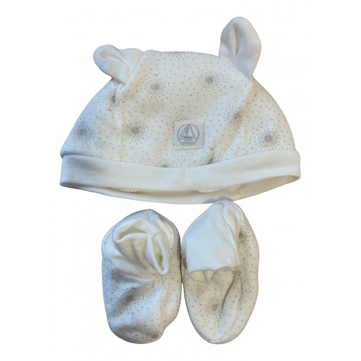 Petit Bateau \N Hut, Muetzen, Handschuhe in  Weiss Baumwolle