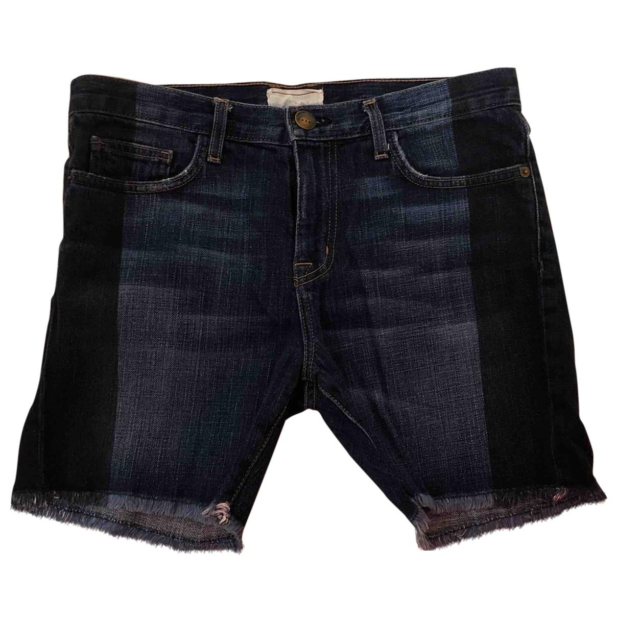 Current Elliott \N Blue Denim - Jeans Shorts for Women S International