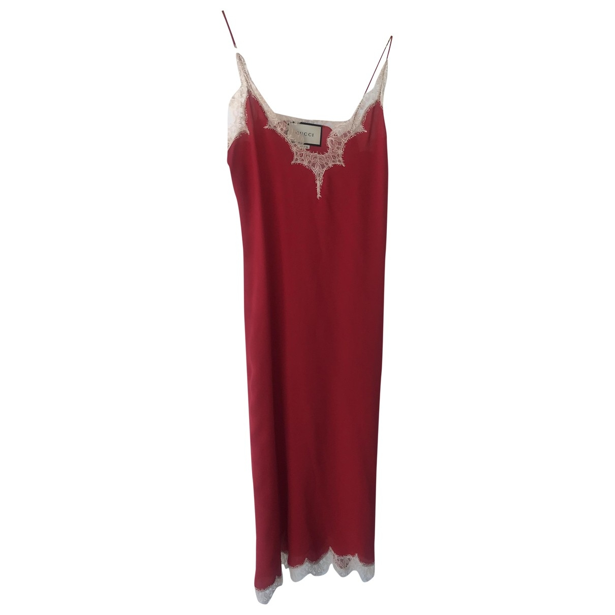 Gucci - Robe   pour femme en soie - rouge