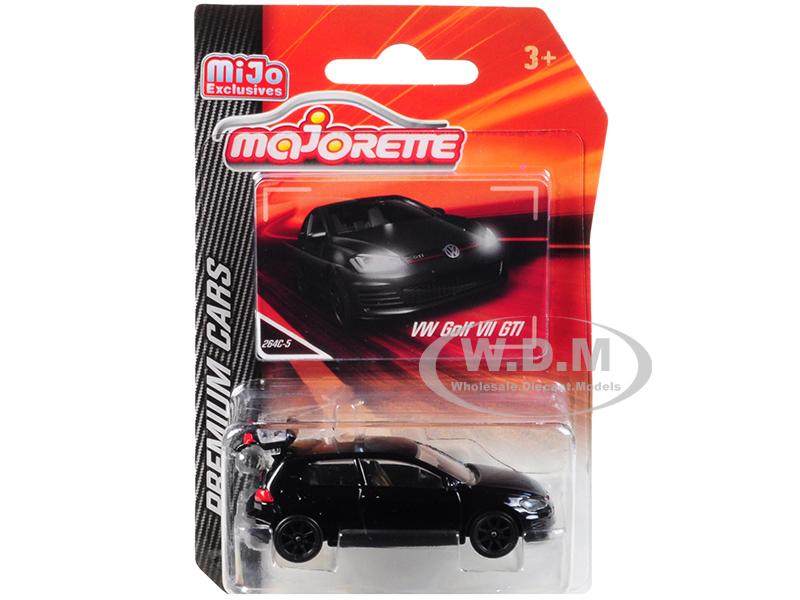 Volkswagen Golf VII GTI Black Premium Cars 1/64 Diecast Model Car by Majorette