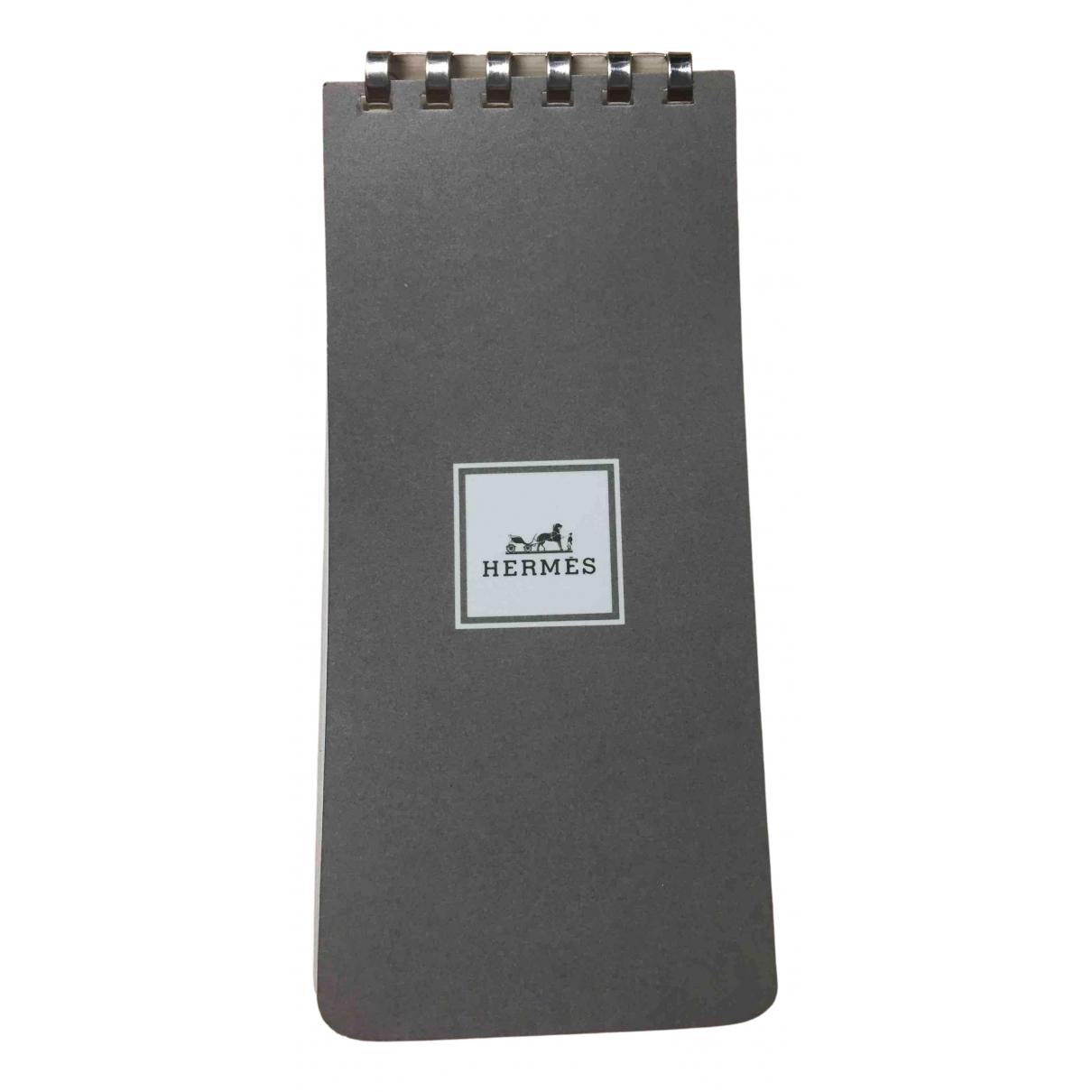 Hermes \N Accessoires und Dekoration in  Grau Baumwolle