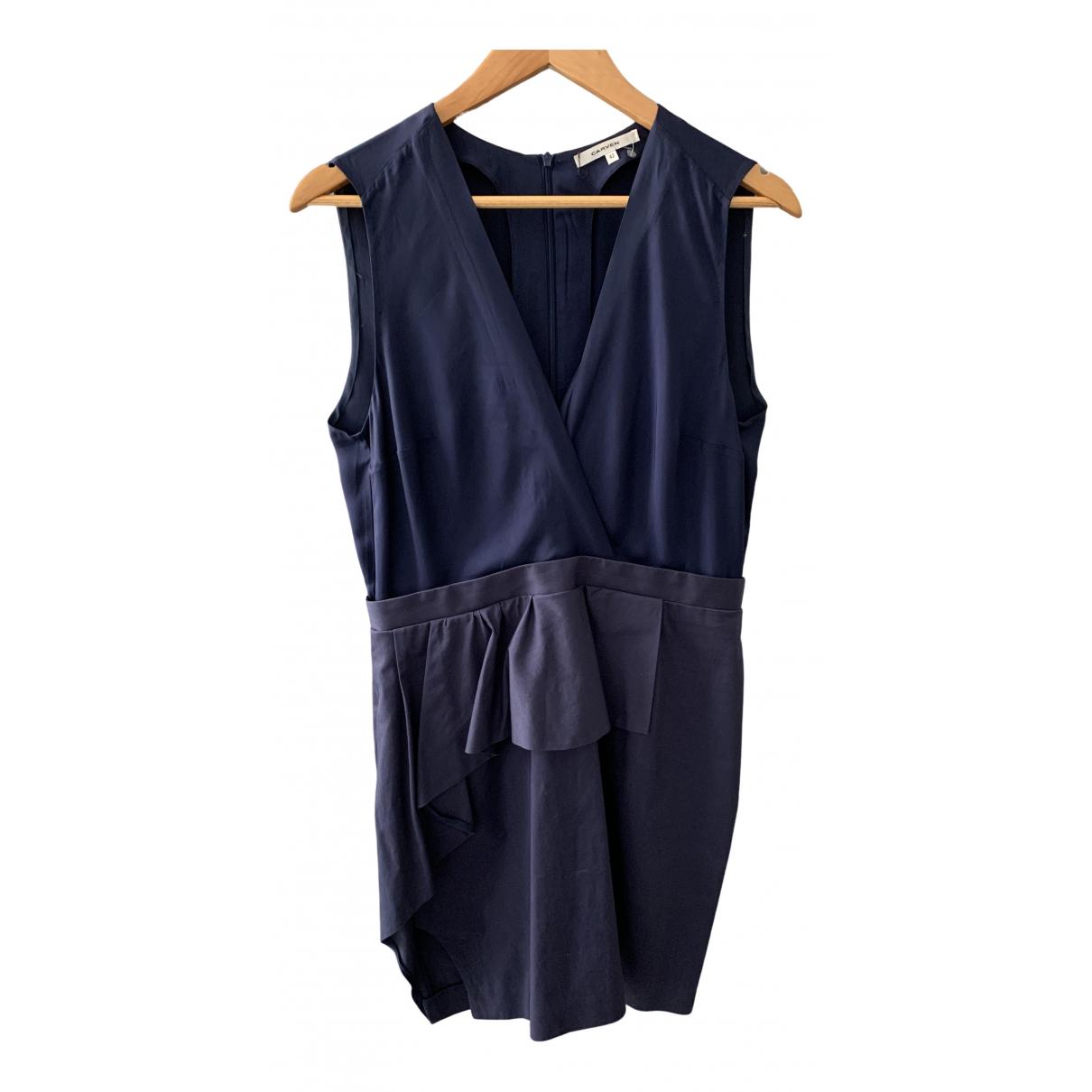 Carven \N Kleid in  Marine Viskose
