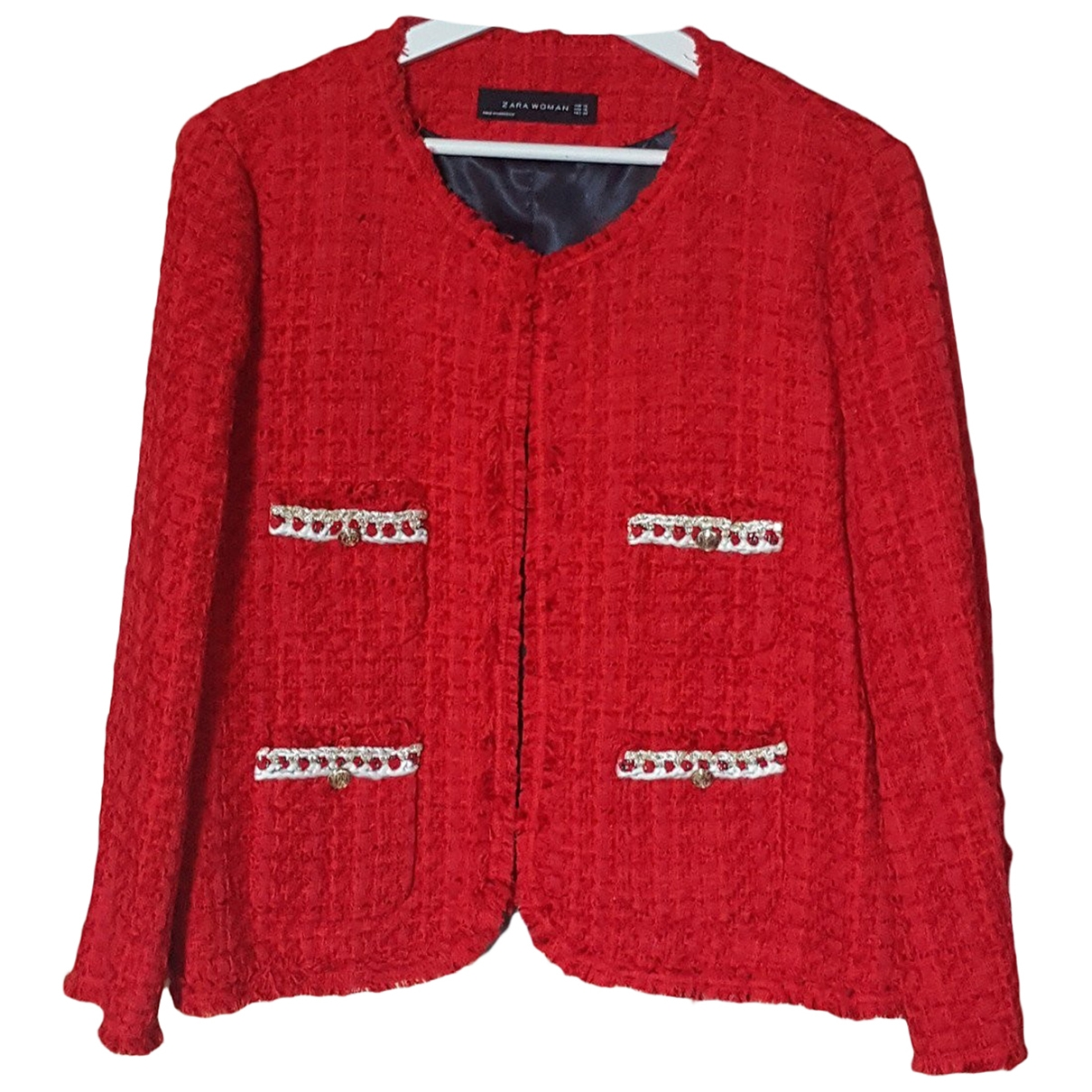 Zara \N Red Tweed jacket for Women XL International