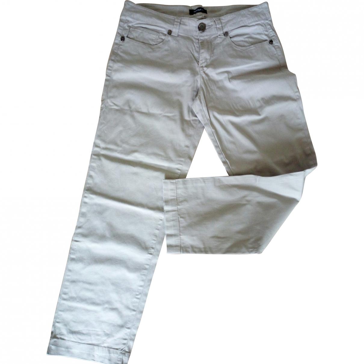 Max & Co \N Beige Cotton Trousers for Women 42 IT