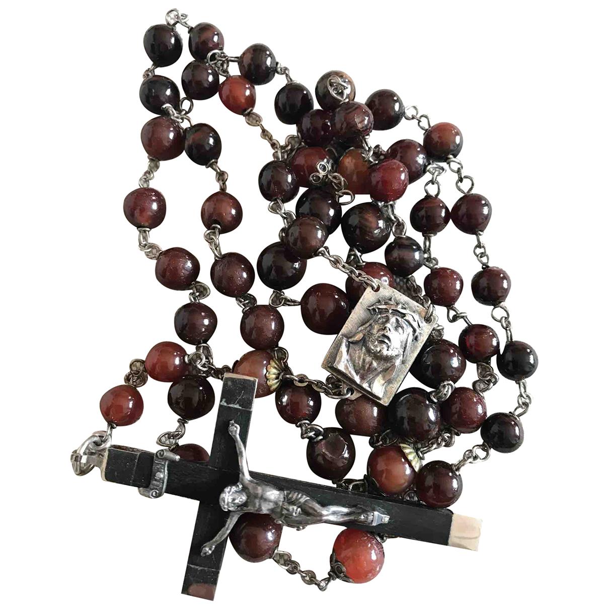 Collar largo Motifs Religieux de Plata Non Signe / Unsigned