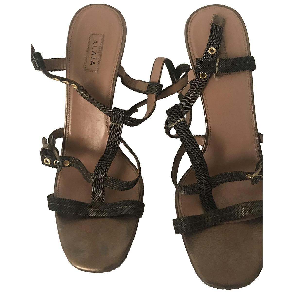 Alaïa \N Brown Heels for Women 37 EU