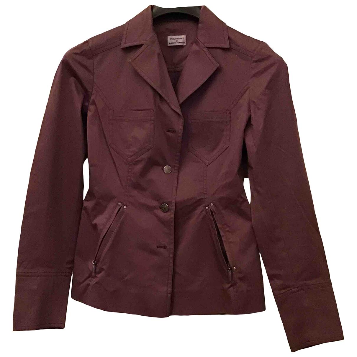 Philosophy Di Alberta Ferretti \N Purple Cotton jacket for Women 42 IT