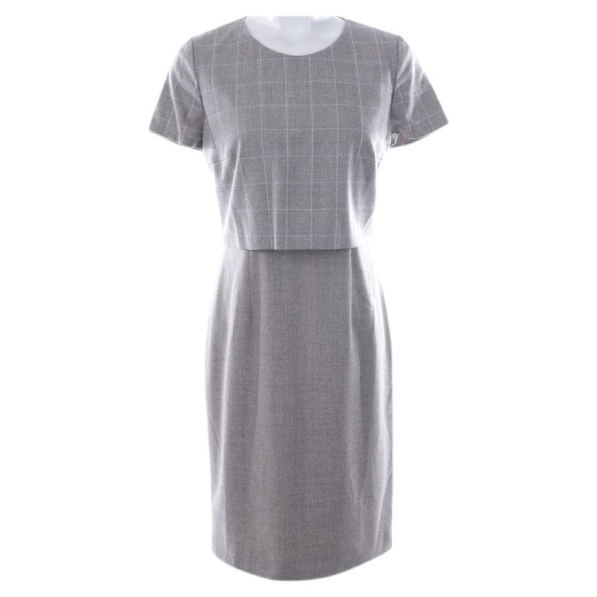 Hugo Boss - Robe   pour femme en soie - gris