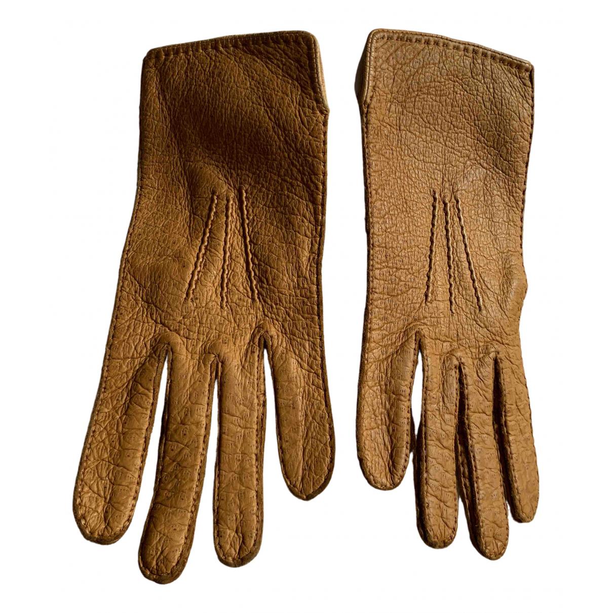 Agnelle \N Handschuhe in  Kamel Leder