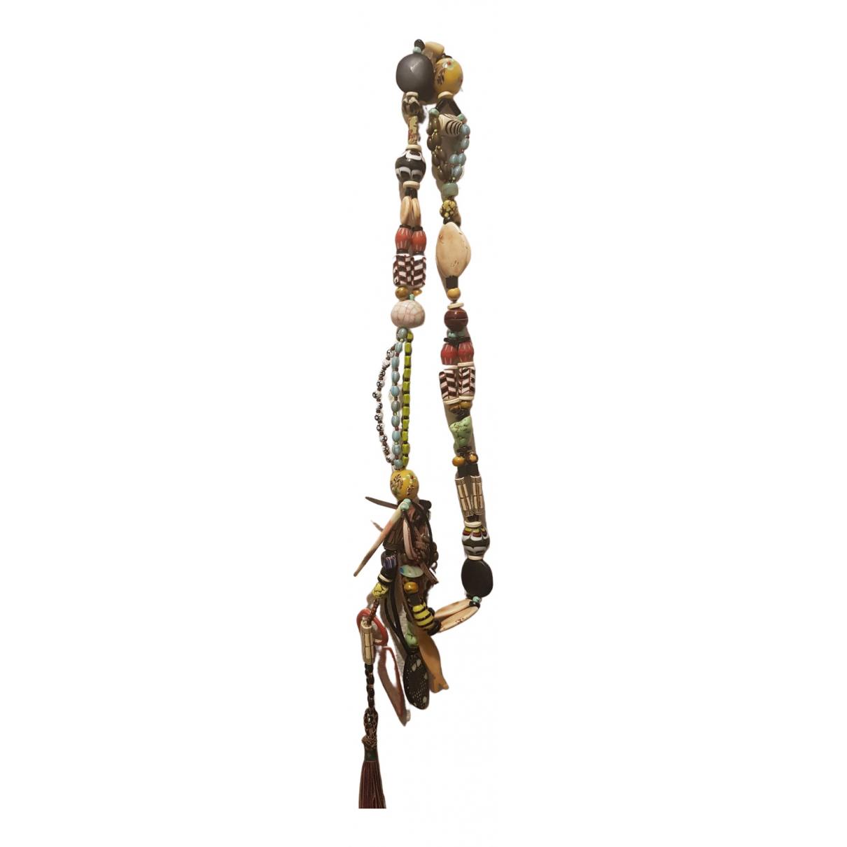 Reminiscence - Collier   pour femme en perles - marron