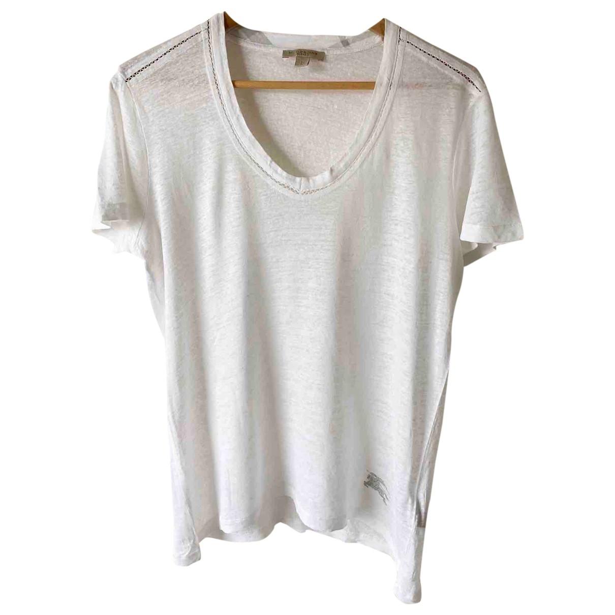 Camiseta de Lino Burberry