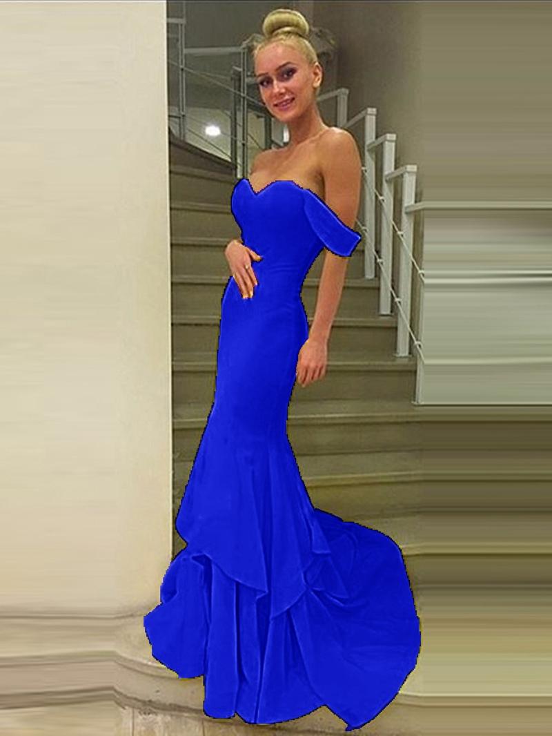 Ericdress Off-the-Shoulder Mermaid Court Train Evening Dress