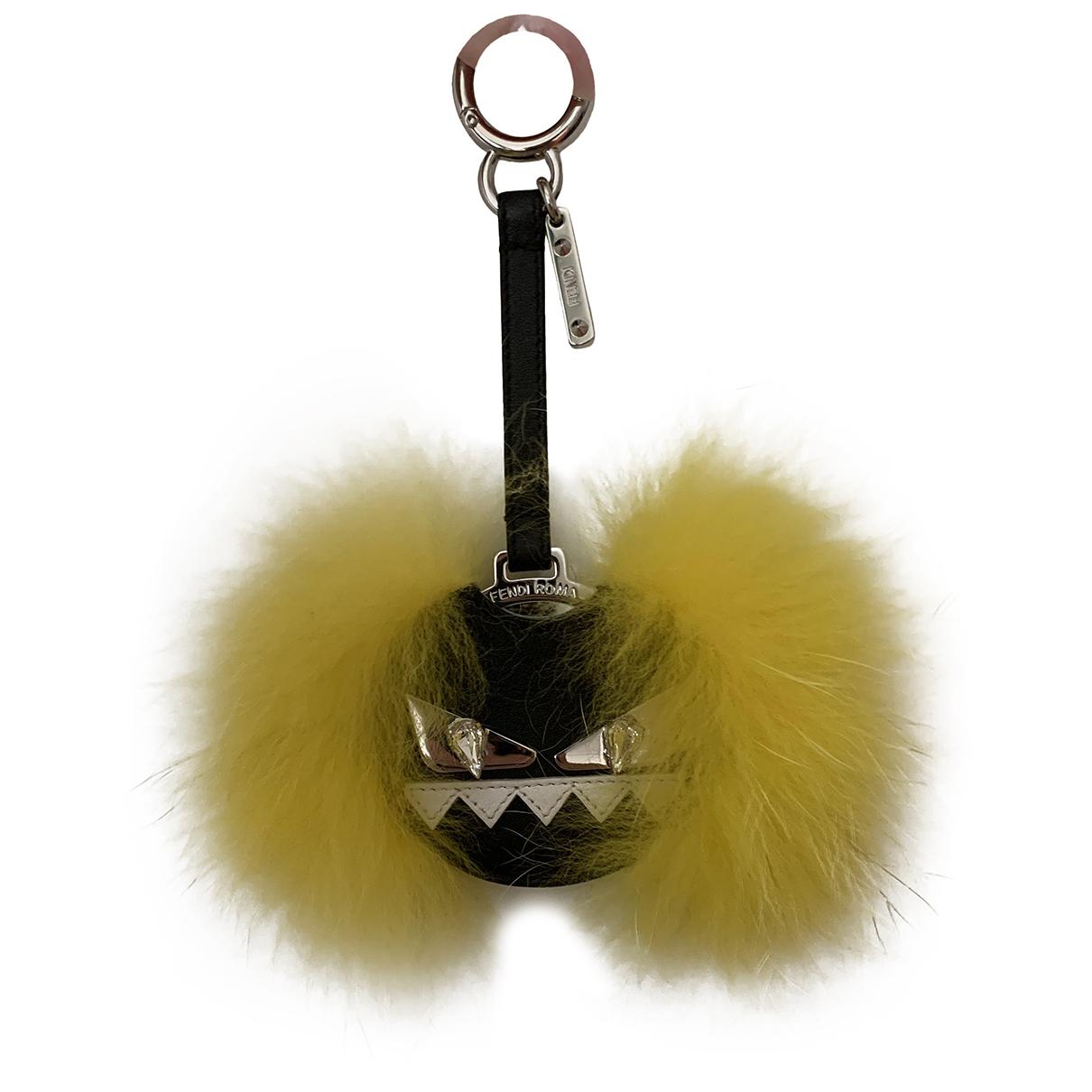 Fendi - Petite maroquinerie   pour femme en vison - jaune