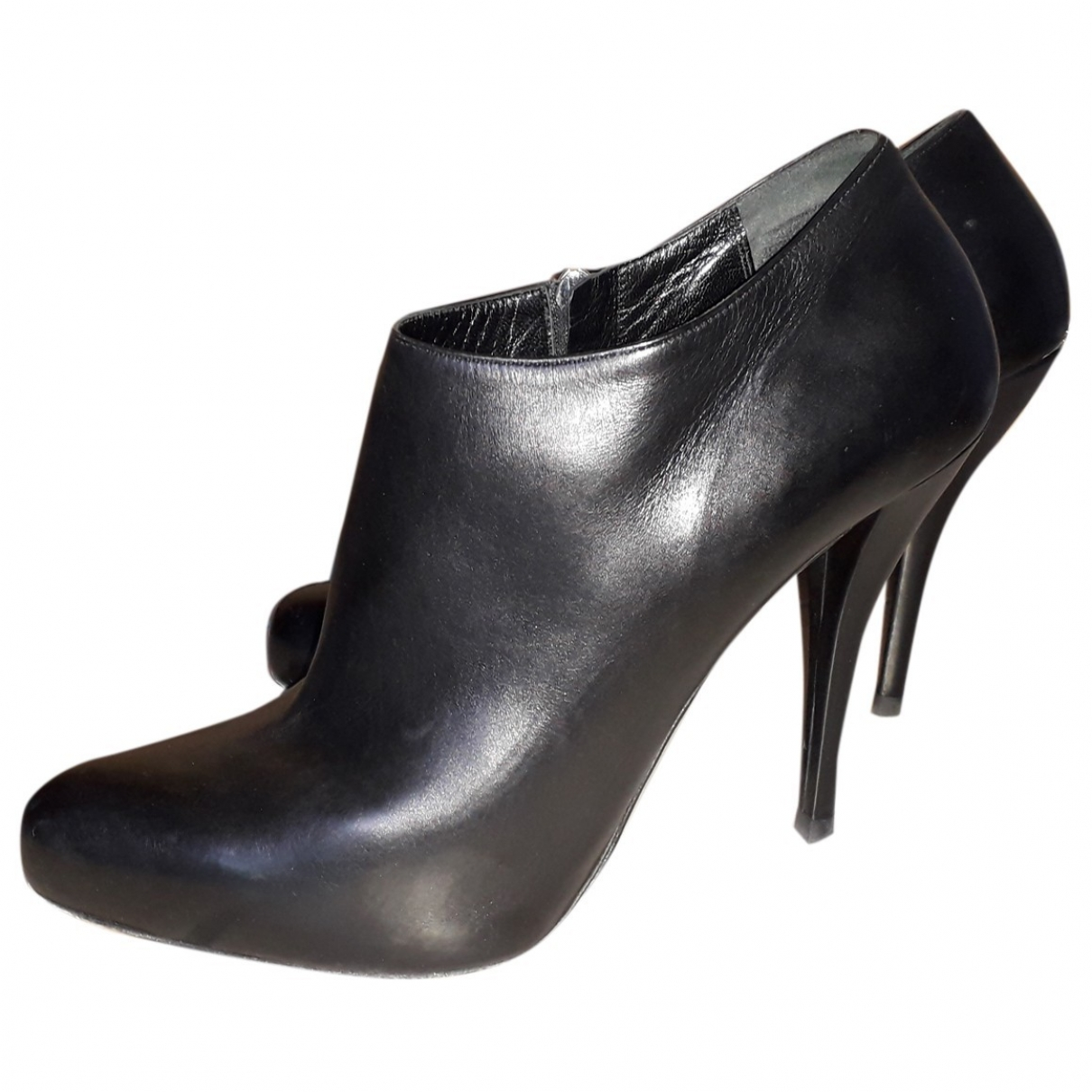 Dior \N Black Leather Ankle boots for Women 40.5 EU