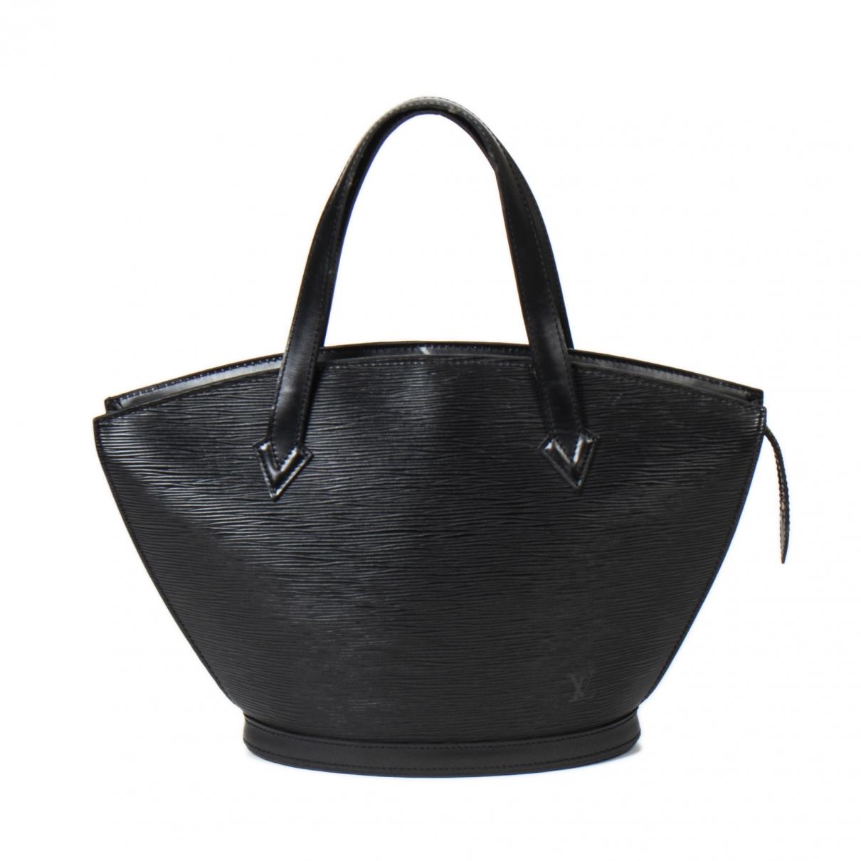 Louis Vuitton - Sac a main Saint Jacques pour femme en cuir - noir