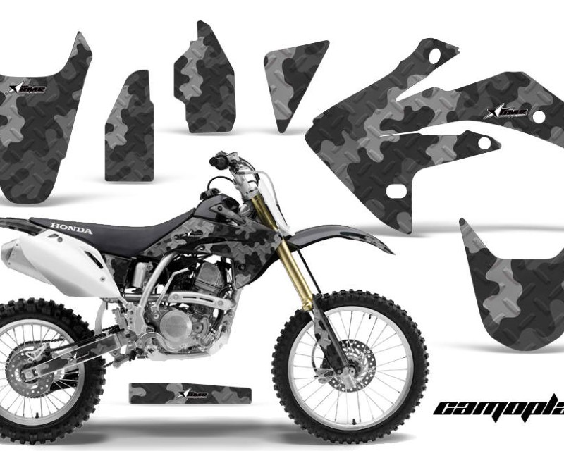 AMR Racing Dirt Bike Graphics Kit Decal Sticker Wrap For Honda CRF150R 2007-2016áCAMOPLATE BLACK