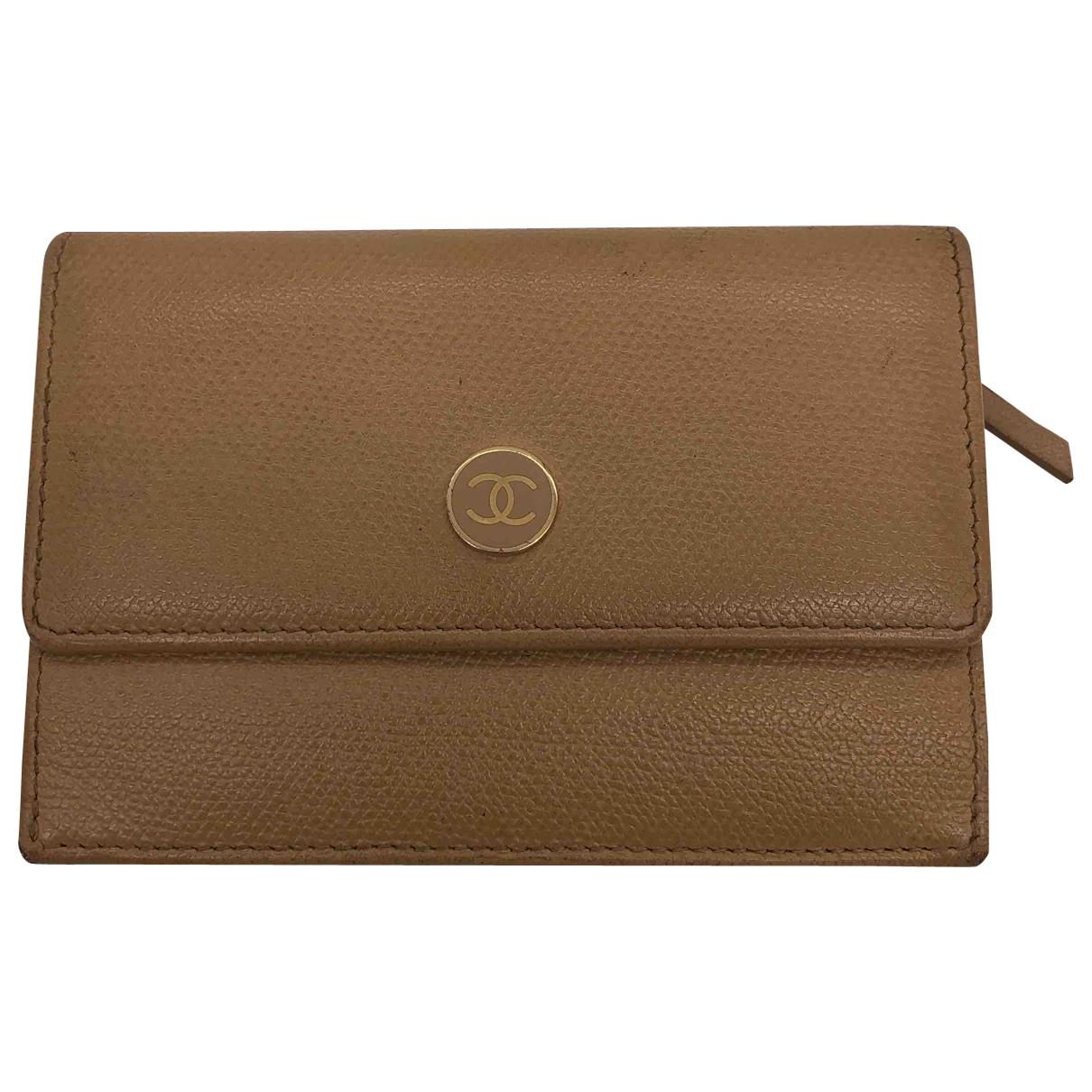 Chanel \N Camel Leather wallet for Women \N