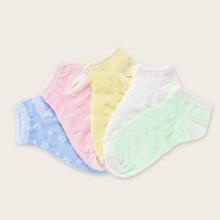 5 Paar Blumenmuster Socken