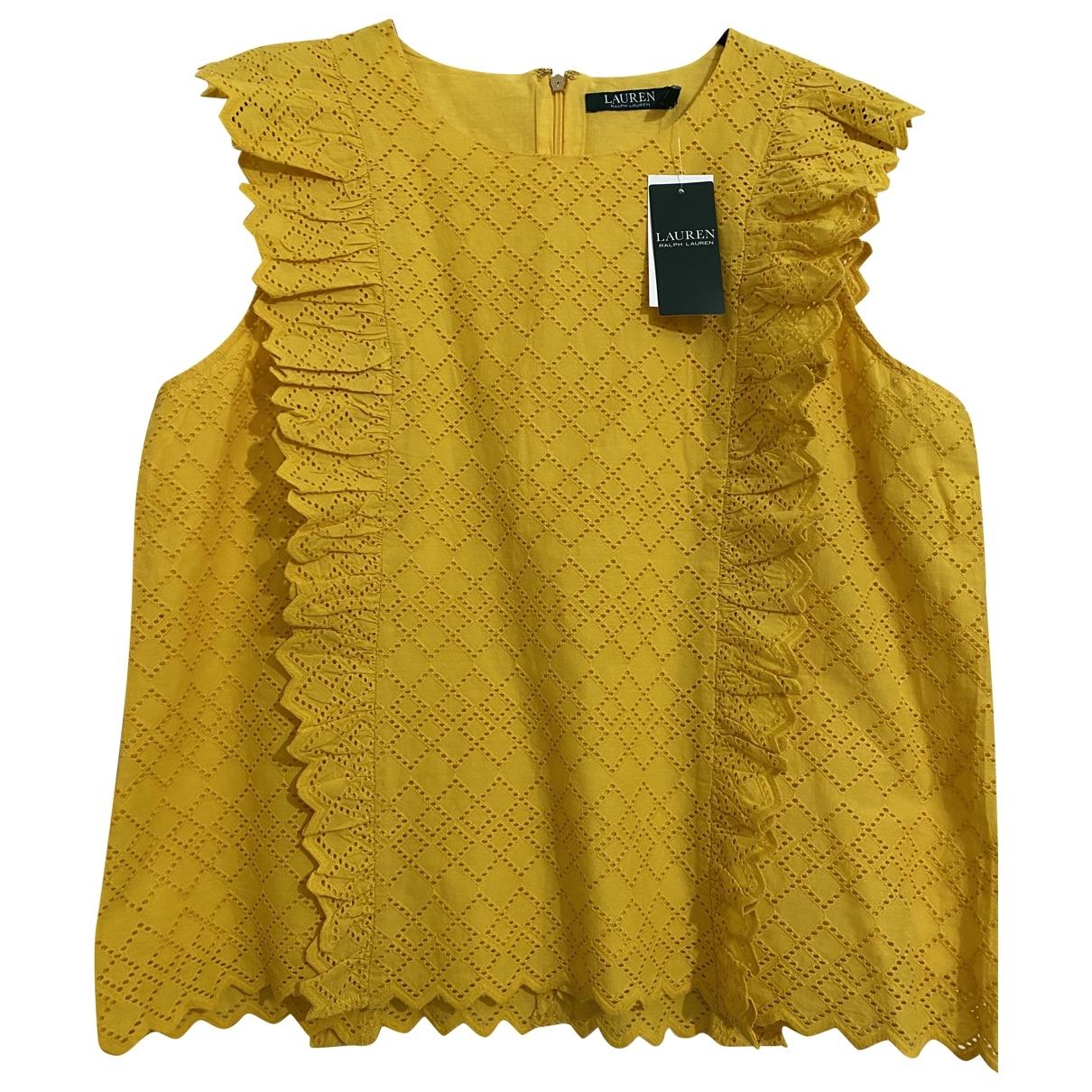 Lauren Ralph Lauren \N Yellow Cotton  top for Women 14 UK