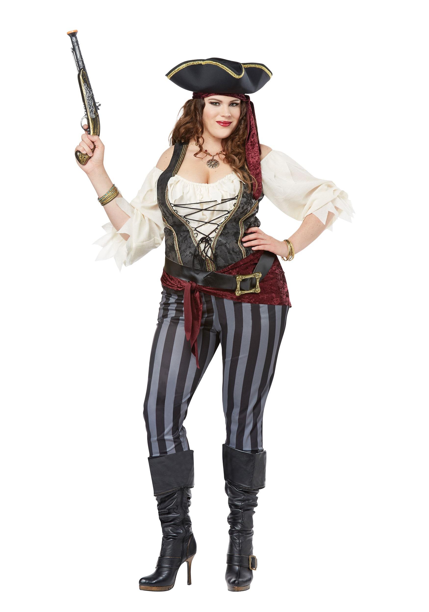 Brazen Buccaneer Plus Size Costume for Women