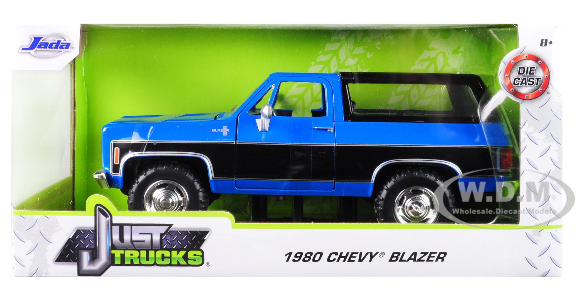 1980 Chevrolet Blazer K5 Blue and Black Just Trucks 1/24 Diecast Model Car by Jada