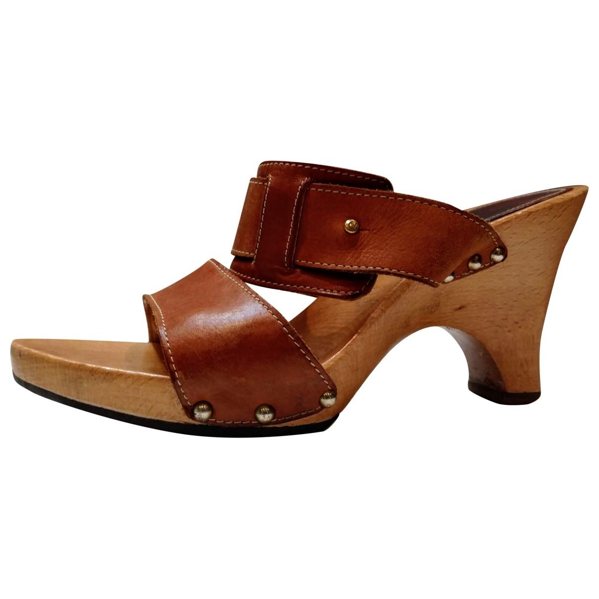 Aigner - Sandales   pour femme en cuir - marron