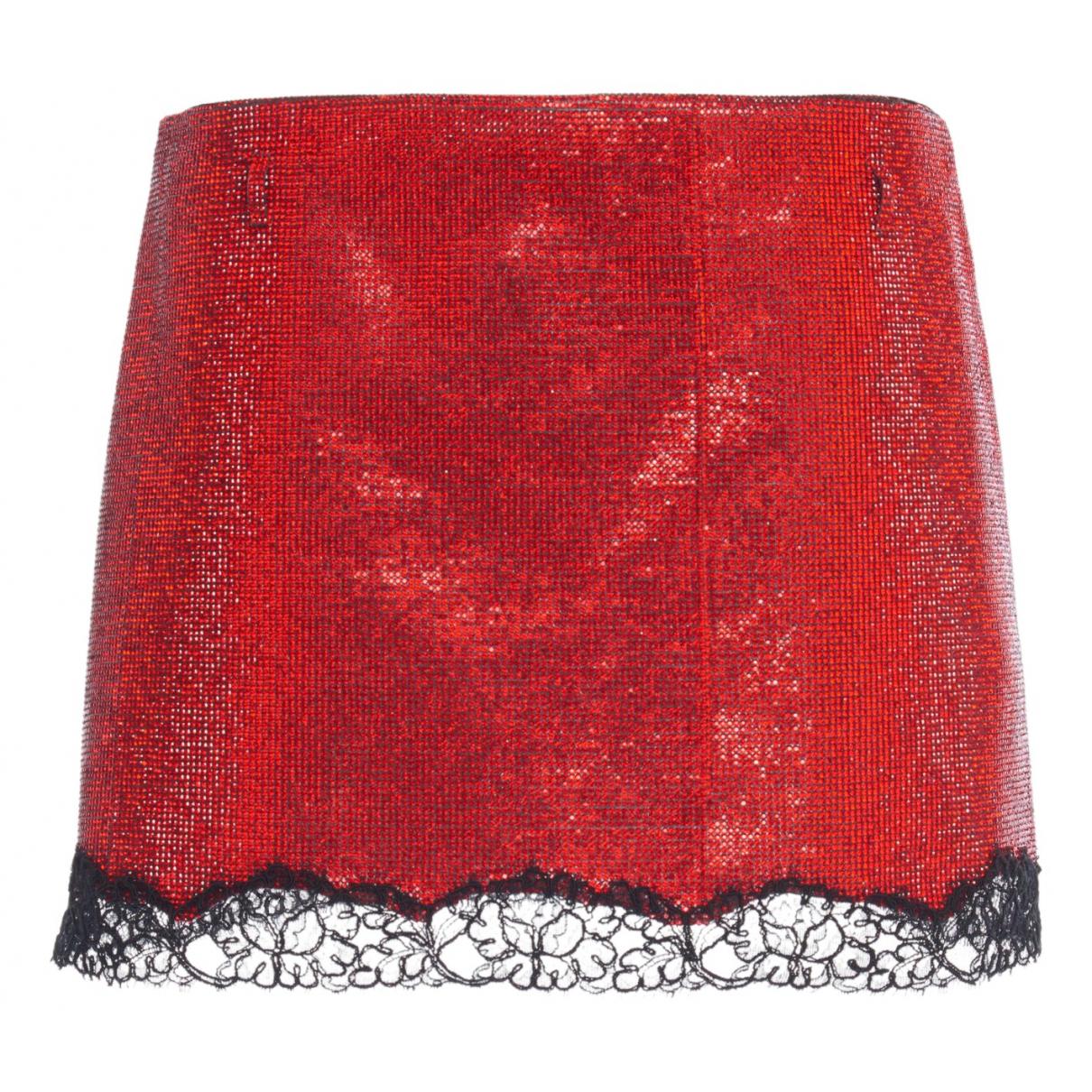 Philosophy Di Lorenzo Serafini N Red Silk skirt for Women 38 IT