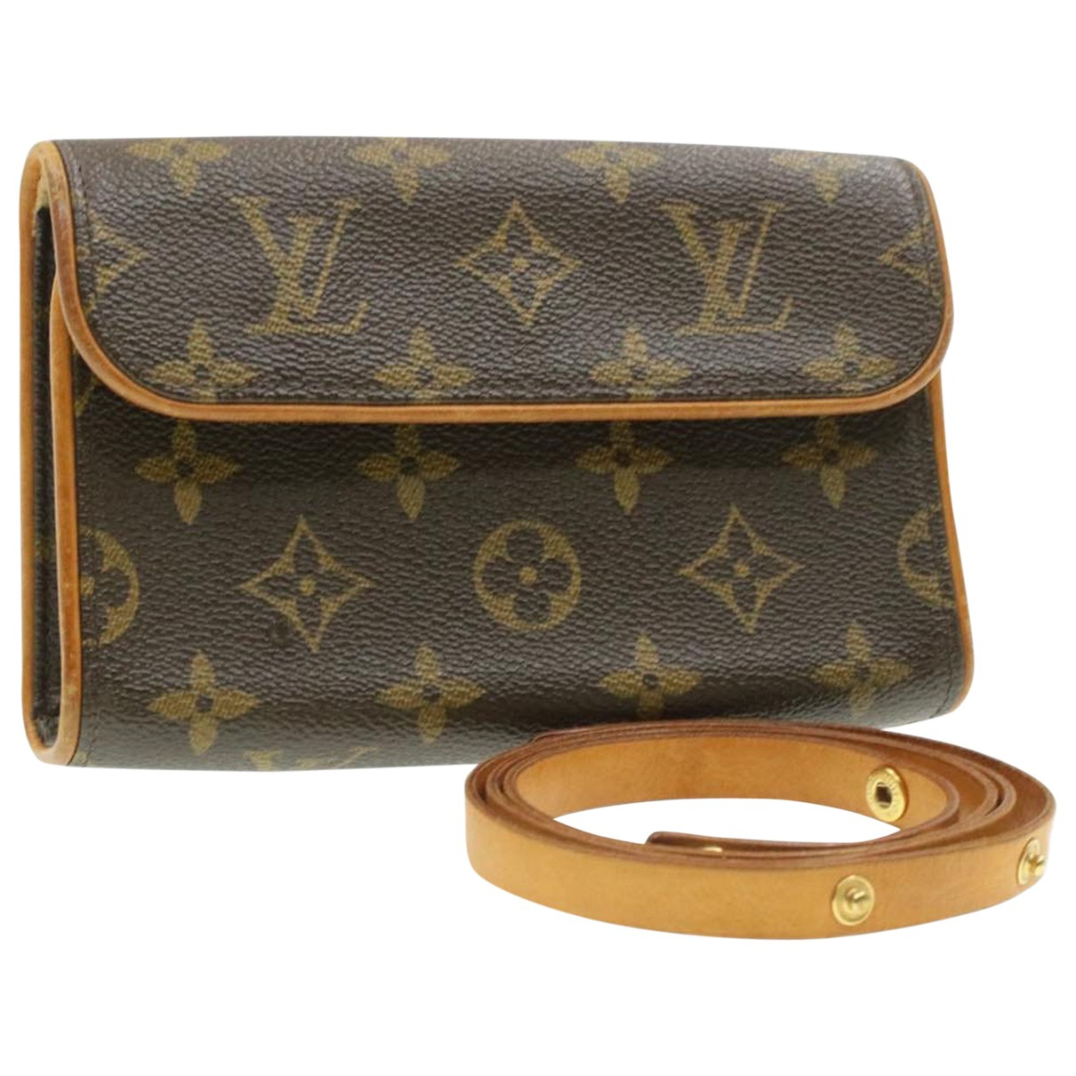 Louis Vuitton Florentine Brown Cloth Clutch bag for Women \N