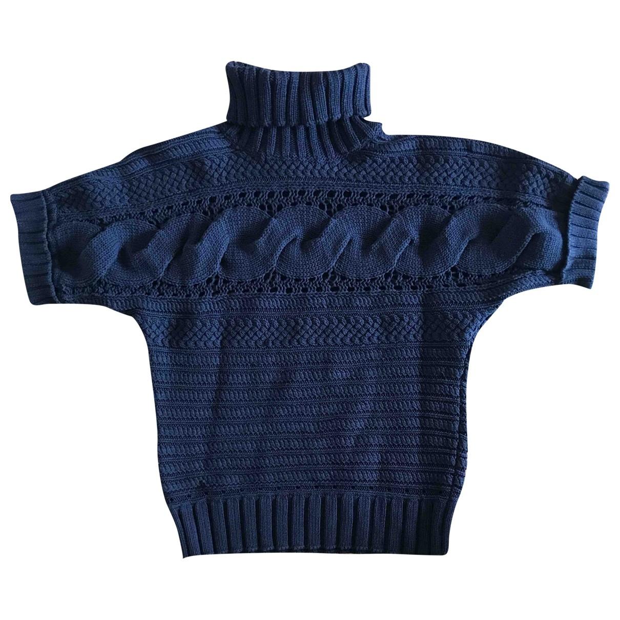 Magaschoni Collection - Pull   pour femme en coton - bleu