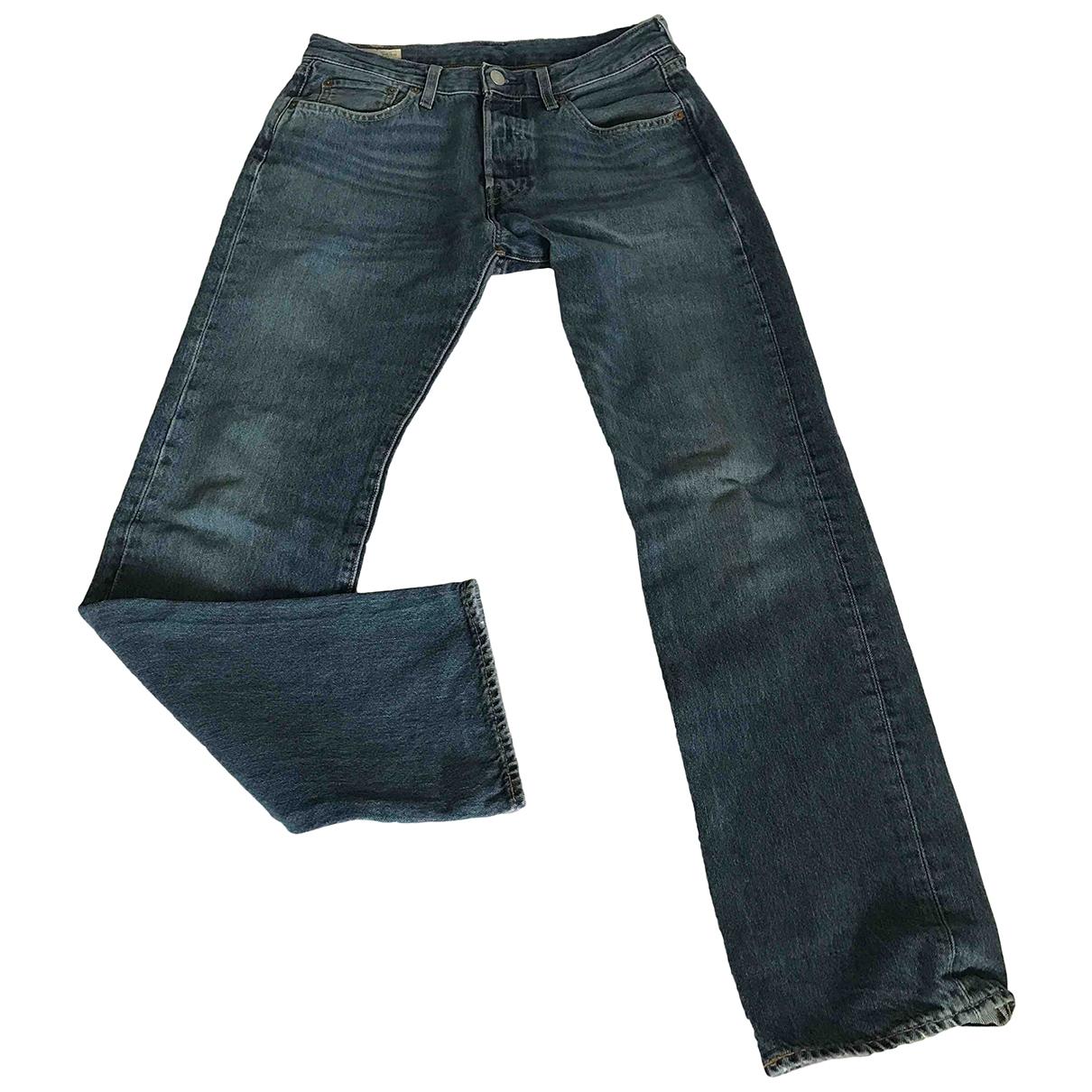Levi's 501 Blue Cotton Jeans for Men 29 US