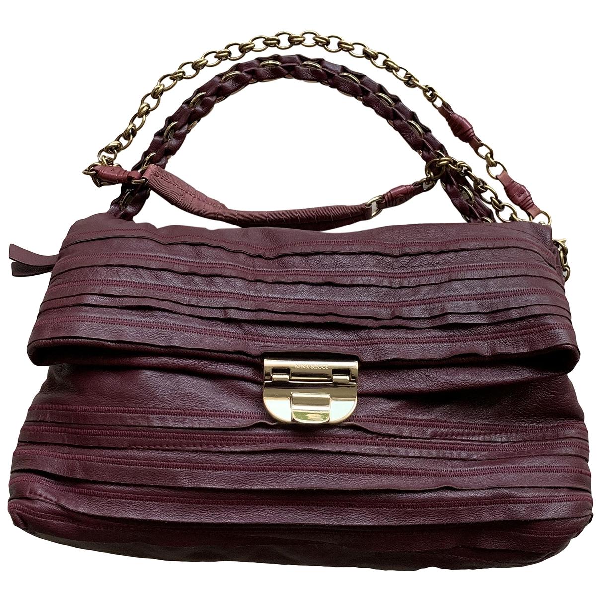 Nina Ricci \N Burgundy Leather handbag for Women \N
