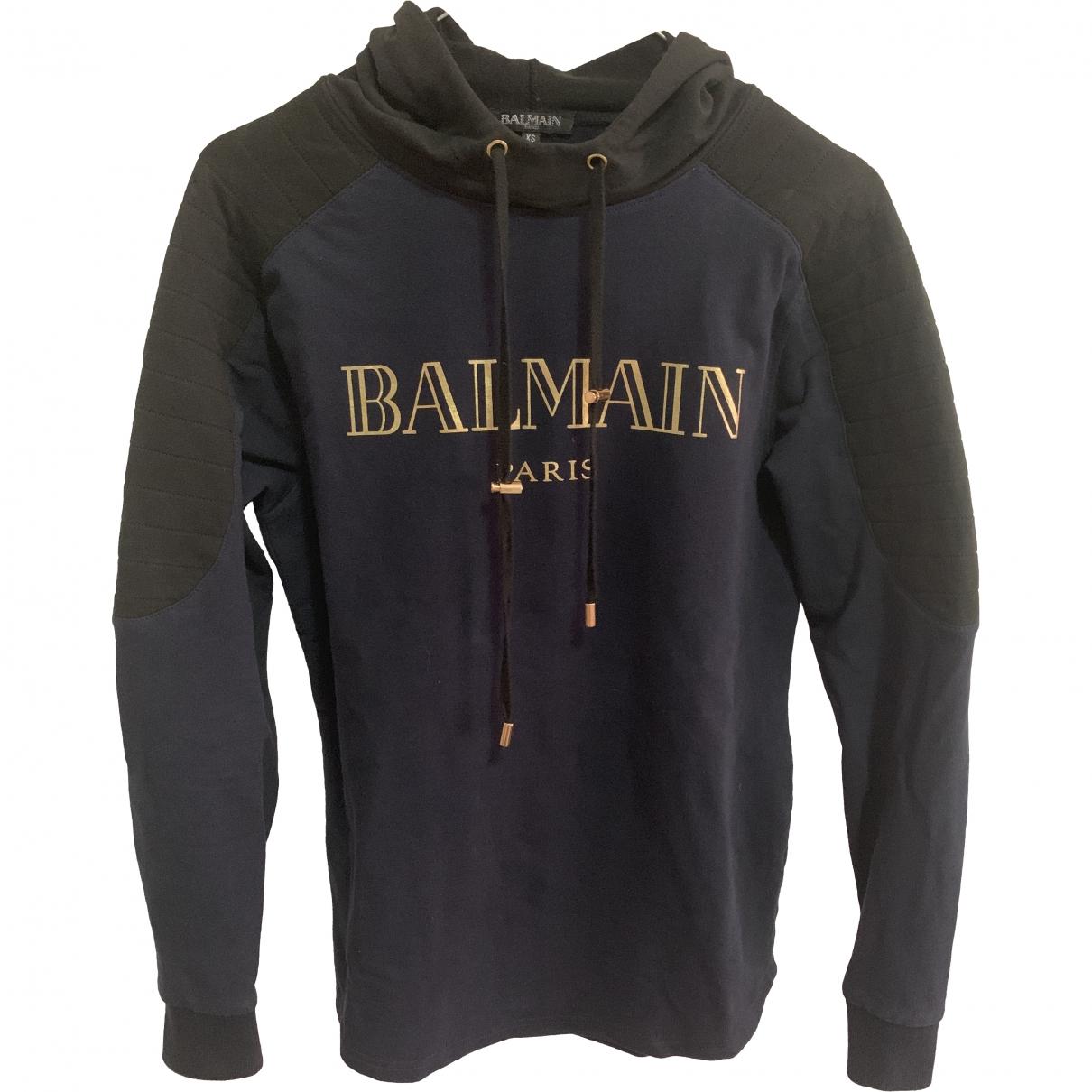 Balmain - Pulls.Gilets.Sweats   pour homme en coton - marine