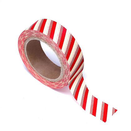 Washi Tape Red Stripe 15mmX10m 1Pcs LIVINGbasics™