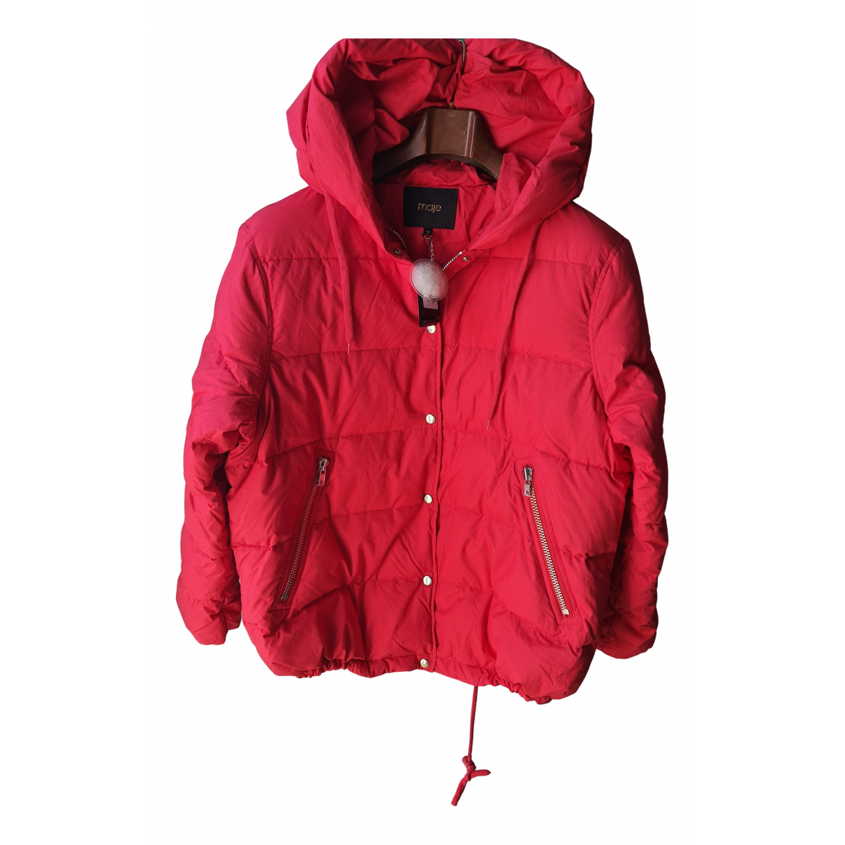 Maje N Red Cotton coat for Women One Size IT